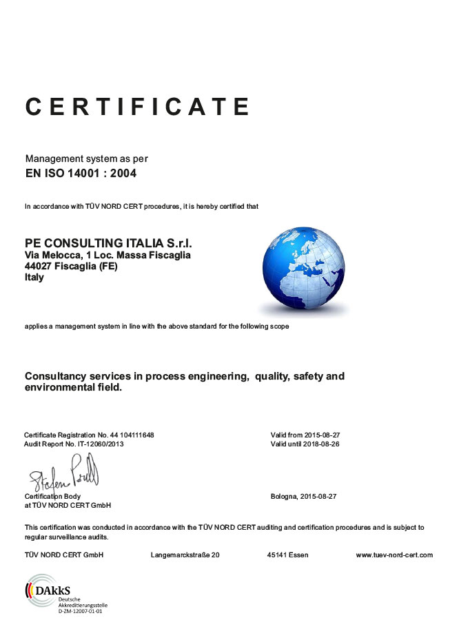 Certifications - Pe Consulting
